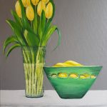 Tulips and Bananas: Acrylic on Canvas, Unframed, £75