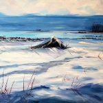Vinter i Korsanås: Acrylic on Board, Framed, £100