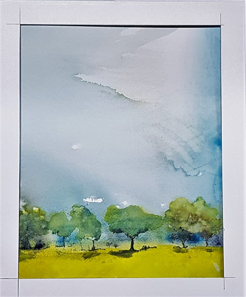 Rapeseedfield 1 : Watercolour on Paper