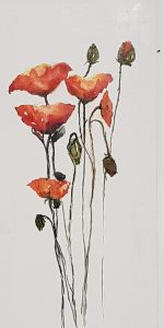 Poppies 4. Watercolour