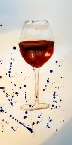 Red Wine. Watercolour.
